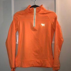 Bright Orange PINK 3 quarter zip *Barely Worn